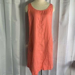 J Jill Love Linen Sleeveless Midi Shift Dress